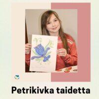 Lapset saavat opetella tekemään Petrikivka taidetta